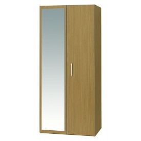 Oak Mode 2 Door Robe With Mirror