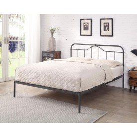 Holte Black And Silver Bed Frame