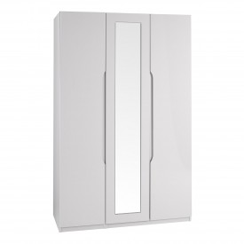 Cashmere Grey High Gloss 3 Door Wardrobe