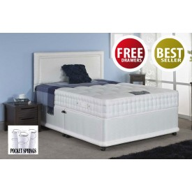 Romeo Pocket 1500 Super Kingsize 4 FREE Drawer Divan Bed