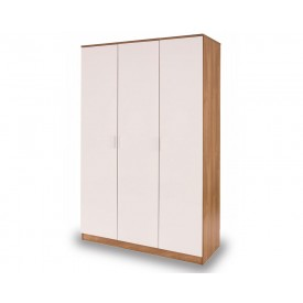 Otto White And Oak 3 Door Robe