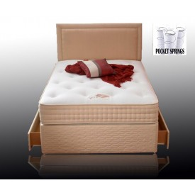 Pasha Pocket 1000 Three Quarter 4 Drawer Divan Bed