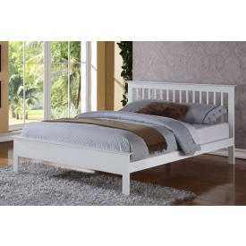 Petra White Super Kingsize Bed Frame