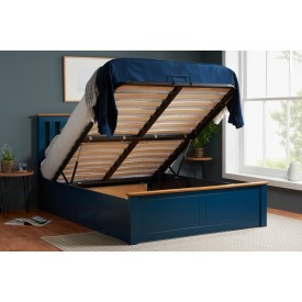 Flame Blue Ottoman Bed Frame