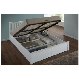 Flame White Ottoman Storage Bed Frame
