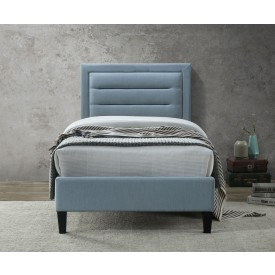 Casso Single Bed Frame Blue