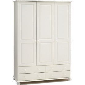Richmond White 3 Door/4 Drawer Robe