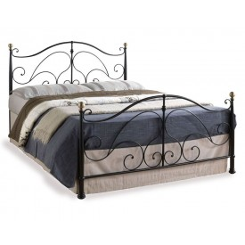 Romano Black Double Bed Frame