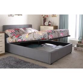 Royal Silver Ottoman Bed Frame
