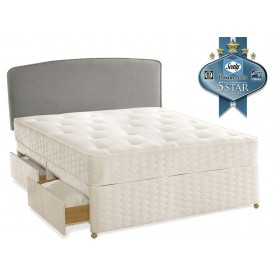 Sealy Essentials Firm Double 4 Drawer Divan Bed