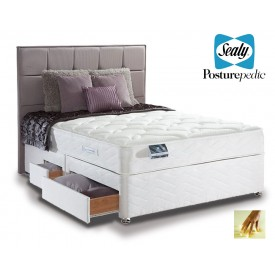 Sealy Pearl Memory Kingsize 4 Drawer Divan