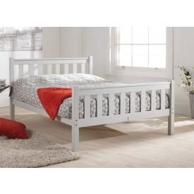 Shaker Grey High Foot Bed Frame
