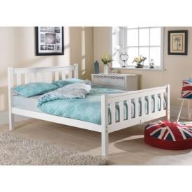 Shaker White High Foot Bed Frame