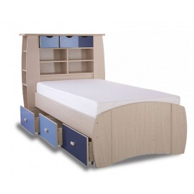 Sid Blue Storage Bed Frame