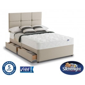 Silentnight Essentials Easycare Super Kingsize 4 Drawer Divan Be