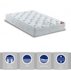 Silk & Latex Premier Pocket 1800 Kingsize Mattress