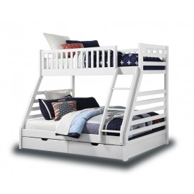 Station White Triple Bunk With Drawers