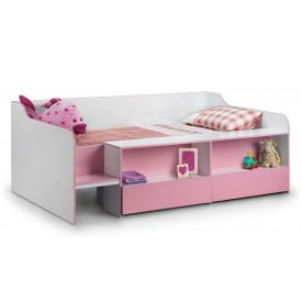 Stellar Pink Cabin Bed Low Sleeper