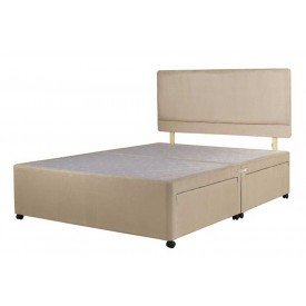 Superior Double Divan Bed Base Stone Fabric