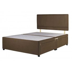 Superior Three Quarter Divan Bed Base Chocolate Fabric