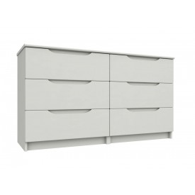 Alpine White Gloss 3 Drawer Double Chest