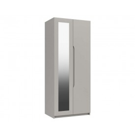 Cashmere Grey High Gloss 2 Door Mirror Wardrobe