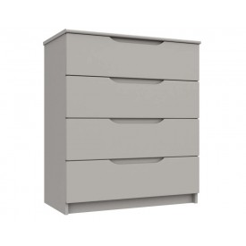 Cashmere Grey High Gloss 4 Drawer Chest