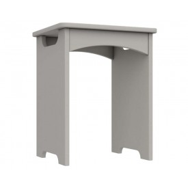 Cashmere Grey High Gloss Bedroom Stool