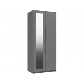 Dust Grey High Gloss 2 Door Mirror Wardrobe