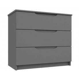 Dust Grey High Gloss 3 Drawer Chest