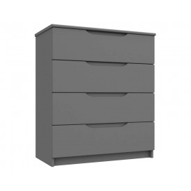 Dust Grey High Gloss 4 Drawer Chest