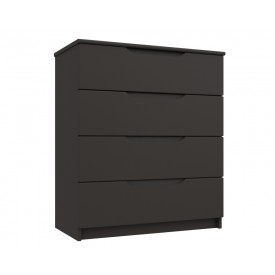 Graphite Grey High Gloss 4 Drawer Chest