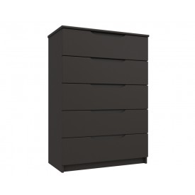 Graphite Grey High Gloss 5 Drawer Chest