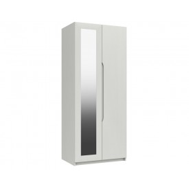 Alpine White Gloss 2 Door Robe With Mirror
