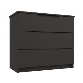 Graphite Grey High Gloss 3 Drawer Chest