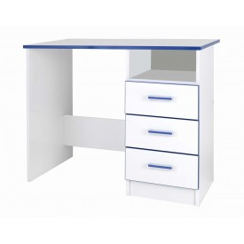 Teen Mode Blue 3 Drawer Desk