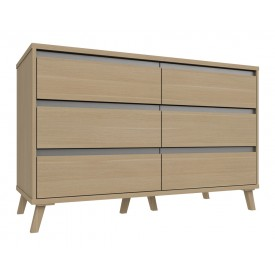 Thames 3 Drawer Double Chest Natural Oak