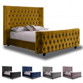 The Renaissance Bed Frame Mustard