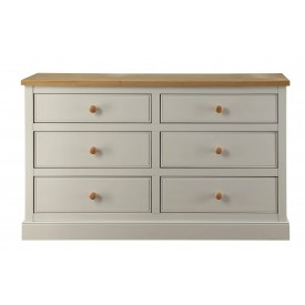 St.Austell Dove Grey 3+3 Drawer Chest