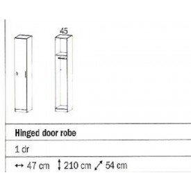 Rauch Sammy Single Door Wardrobe