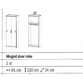 Rauch Sammy 2 Door Wardrobe
