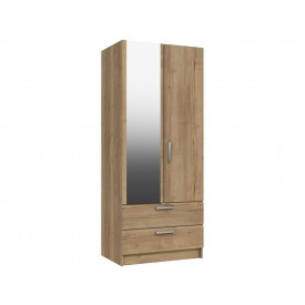 Waterford Oak 2 Door Combi Robe With Mirror