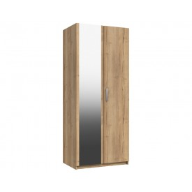 Waterford Oak 2 Door Wardrobe With Mirror
