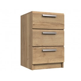 Waterford Oak 3 Drawer Bedside