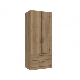 Waterford Oak 2 Door 2 Drawer Wardrobe