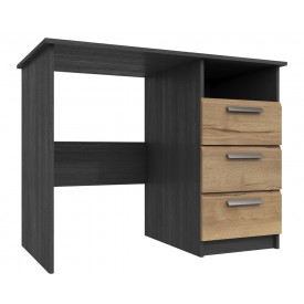 Waterford Graphite And Oak 3 Drawer Dressing Table