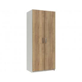 Waterford Oak And White 2 Door Wardrobe