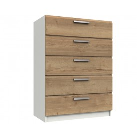Waterford Oak And White 5 Drawer Chest