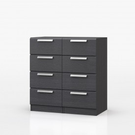 Waterfall Graphite 8 Drawer Narrow
