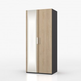 Waterford Graphite And Oak 2 Door Robe With Mirror